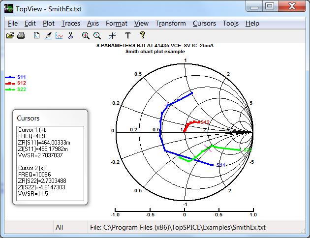 TopSpice Circuit Simulator Copyright (c) 1991-2019 Penzar